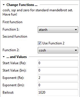 Überschrift und Parameterblöcke im Karteireiter Formel
