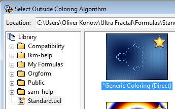 Auswahl des Kolorierungs-Algorithmus