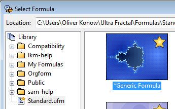 Auswählen der neuen Formel im Browserfenster