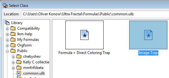 """Auswählen der Formel für """"Color Trap"""""""