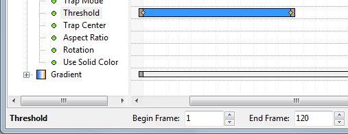 Bearbeiten der Zeitlinie für den Parameter: Threshold
